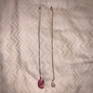 Jewelry - LOT OF TWO PINK NECKLACES